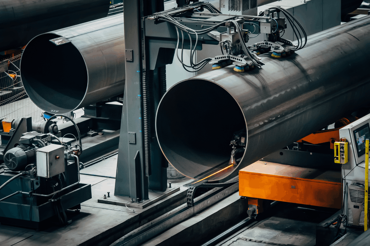 Manufacturing process for welded pipes